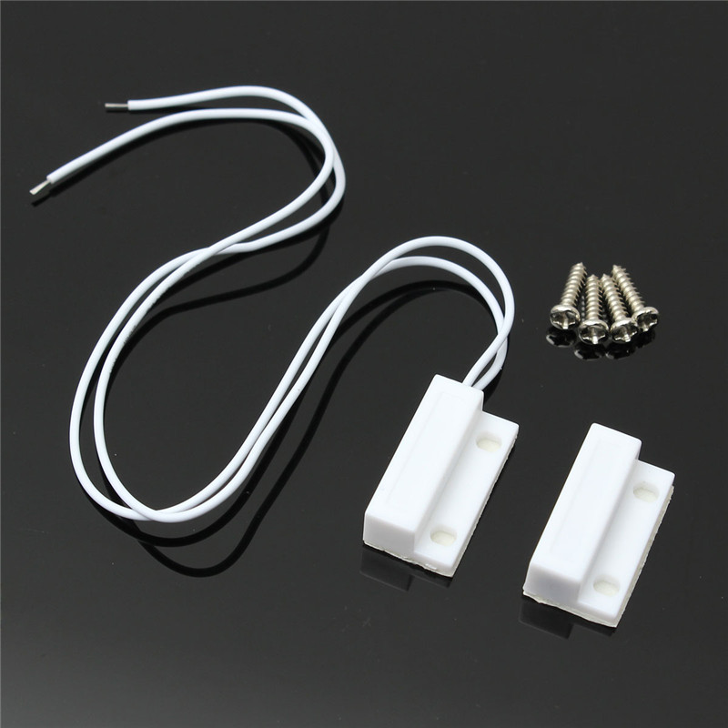1 Set High Sensitive White 0.5A 100V 10W ABS 1 Set Door Window Contact Magnetic Reed Sensor Switch Alarm With 4 Screws New high quality rice cooker parts new thickened contact switch silver plated high power contact 2650w contact switch