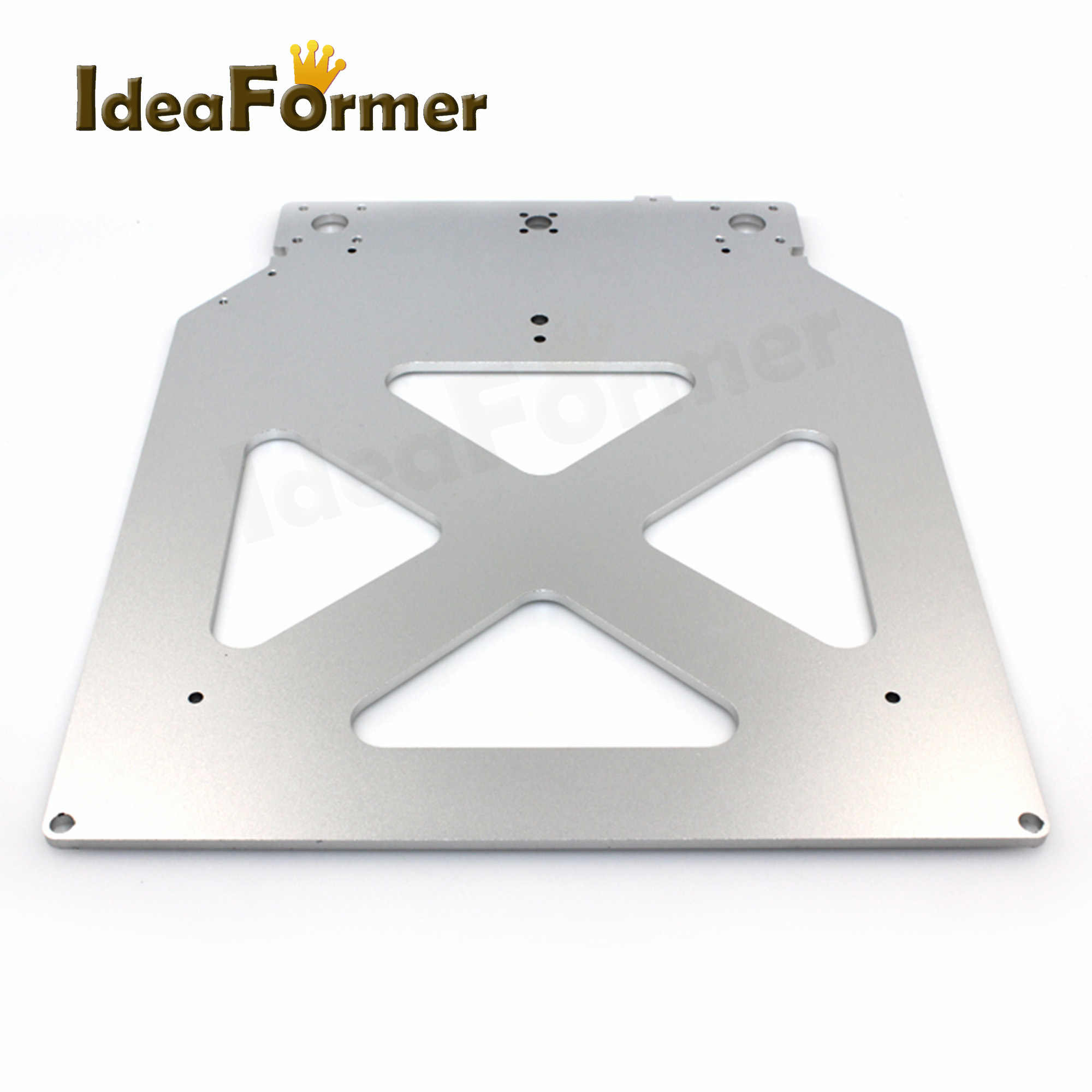 3D Printer Parts UM2 Z Table Base Plate Platform Bracket Supporting (with 4 Triangle Holes Inside) Heating Bed Aluminum Plate.