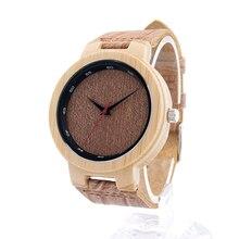 БОБО ПТИЦА D16 Бренд Дизайнер Бамбук Дерево Кварцевые Часы для Мужчин и для Женщин С Натуральной Кожи Ремни в Коробке