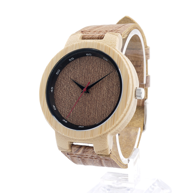BOBO BIRD D16 Brand Designer Bamboo Wood Quartz Watches for Men Women With Real Leather Straps in Box