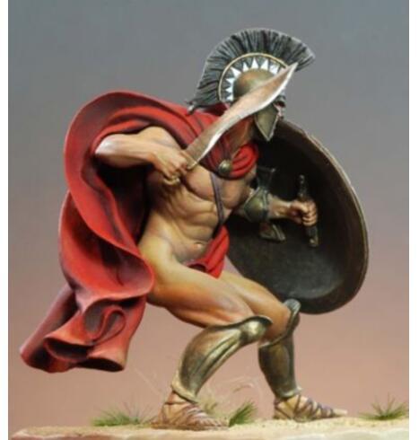 1/24 75mm Spartan Hoplite King 75mm juguete de resina en miniatura figura sin montar sin pintar 1 ud. De 35-65CM, juguete para niños famoso, Kawaii Stitch, muñeca de felpa, juguetes de Anime Lilo y Stitch, lindos juguetes Stich para niños, regalo de cumpleaños