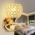 Modern Style Bedside Wall Lamp Bedroom Stair Lighting Crystal Wall Lights E27 LED Bulb Silver/Gold Led Lamp For Bedroom Decor