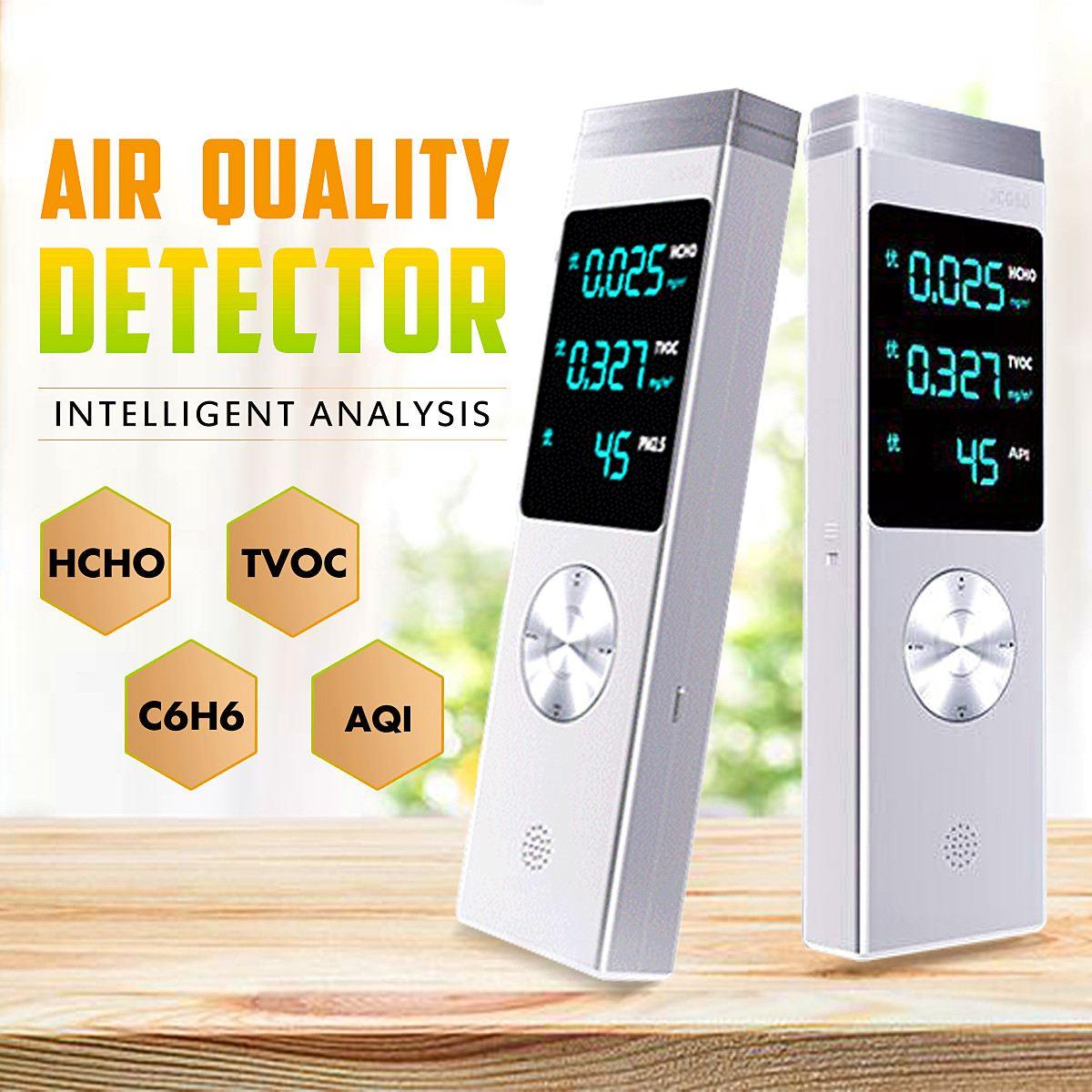 Air Kwaliteit Monitor Oplaadbare Usb Digitale Pro Lucht Detector Hcho Tvoc Api Handheld Air Gas Kwaliteit Monitor Diagnostic Tool