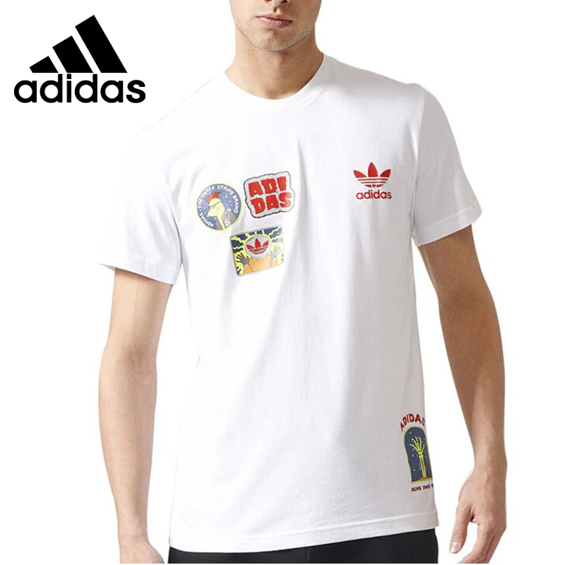 Original New Arrival Adidas Originals FF PLACEMENT + Men's T-shirts short sleeve Sportswear original new arrival 2017 adidas freelift prime men s t shirts short sleeve sportswear