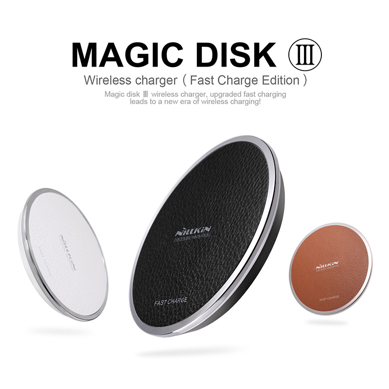 Nillkin Magic Disk III Încărcarea rapidă a încărcătorului wireless pentru iPhone X samsung S8 S7 8plus QI wireless Device Digital Charging