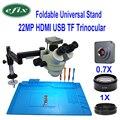 Efix 22MP HDMI Della Macchina Fotografica del USB Pieghevole Universale Del Basamento Trinoculare Microscopio Saldatura Stereo Continus Zoom Simul Focale di Riparazione Del Telefono