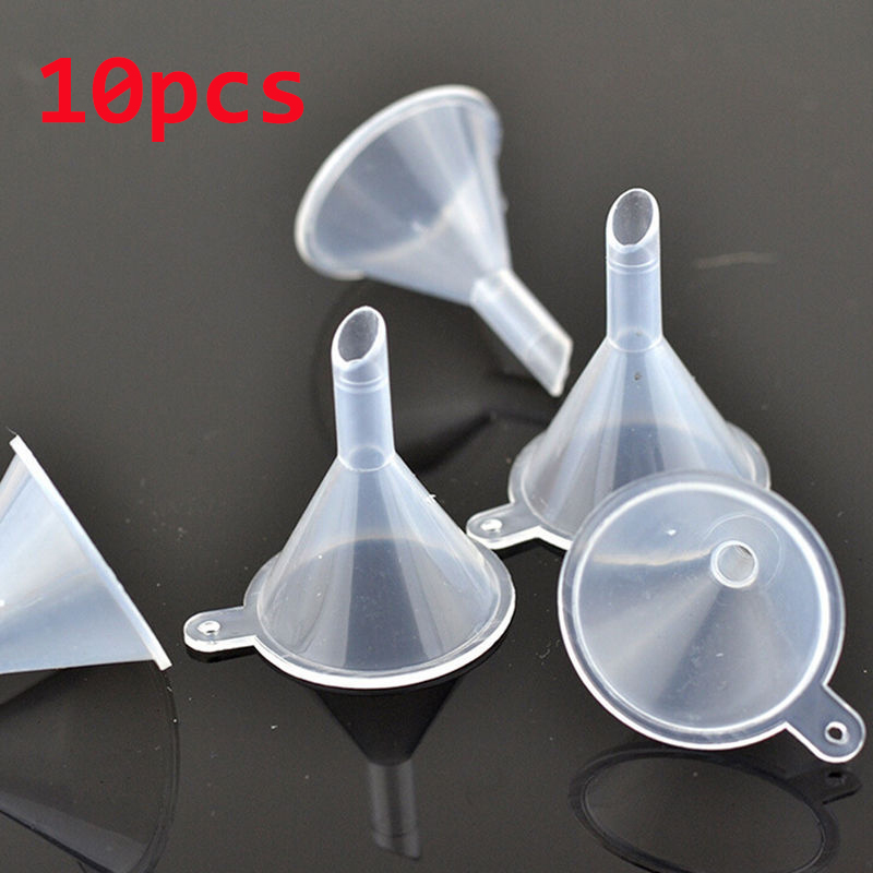 10 Pcs/lot Plastic Small Funnels For Perfume Liquid Essential Oil Filling Empty Bottle Packing Tool Lab Supplies