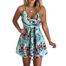 Summer Womens Bohemian Beach Dress Retro Print V-neck Mini 2019 Sexy Folk Dresses Vestidos Black/Pink