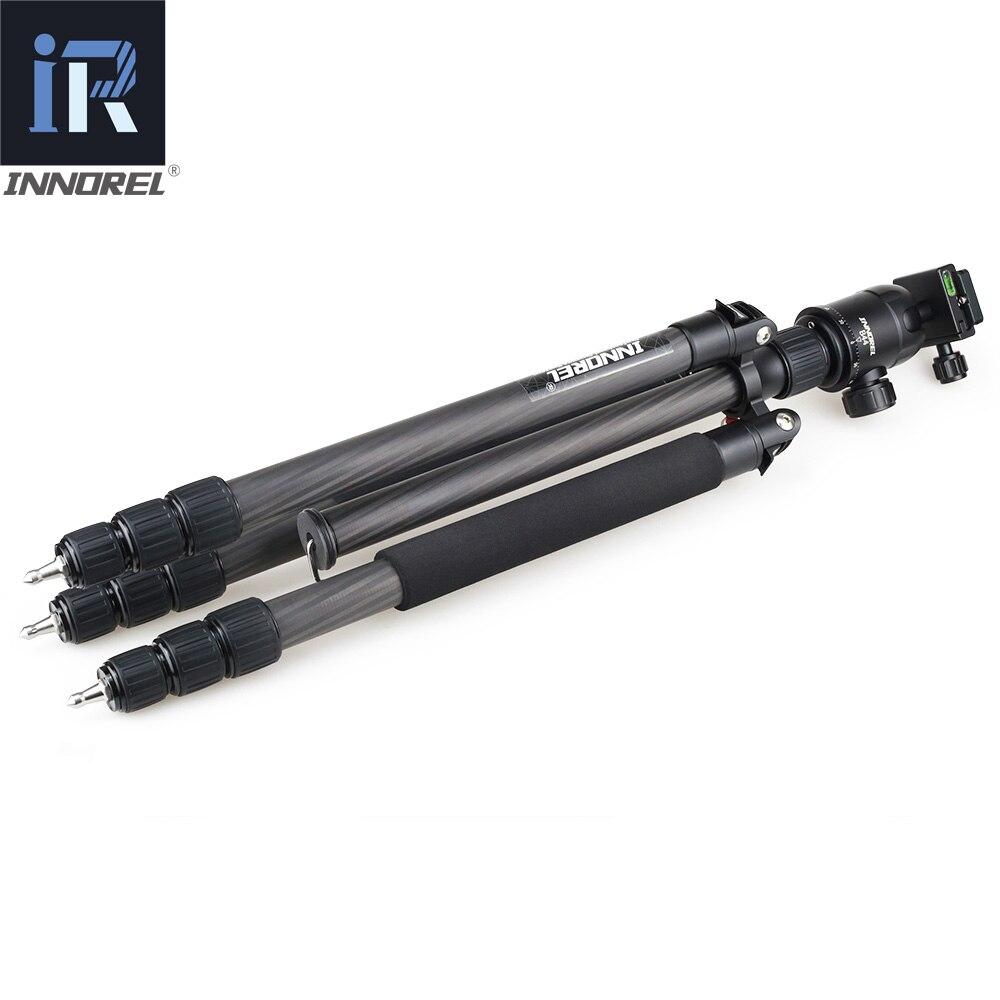 RT70C monopode trépied en Fiber de carbone pour appareil photo reflex numérique professionnel téléobjectif support robuste hauteur maximale tripode 175 cm - 3