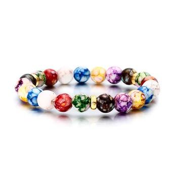 Hot Fashion Men's and Women's Bracelet Volcanic Stone Crown Elephant Sun Charm Bracelet Jewelry Suitable for Summer Beach Gift 5