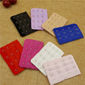 (3pcs/lot ) 3 rows 4 Women lady good quality adjustable bra extender strap extension buckle 10 colors