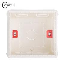 Coswall регулируемая Монтажная коробка внутренняя кассета 86 мм* 85 мм* 50 мм для 86 Тип переключатель и гнездо белый красный синий проводка задняя коробка