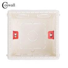 Coswall – boîte de montage réglable, Cassette interne 86mm x 85mm x 50mm pour interrupteur de Type 86 et prise blanche rouge bleue, boîte arrière de câblage