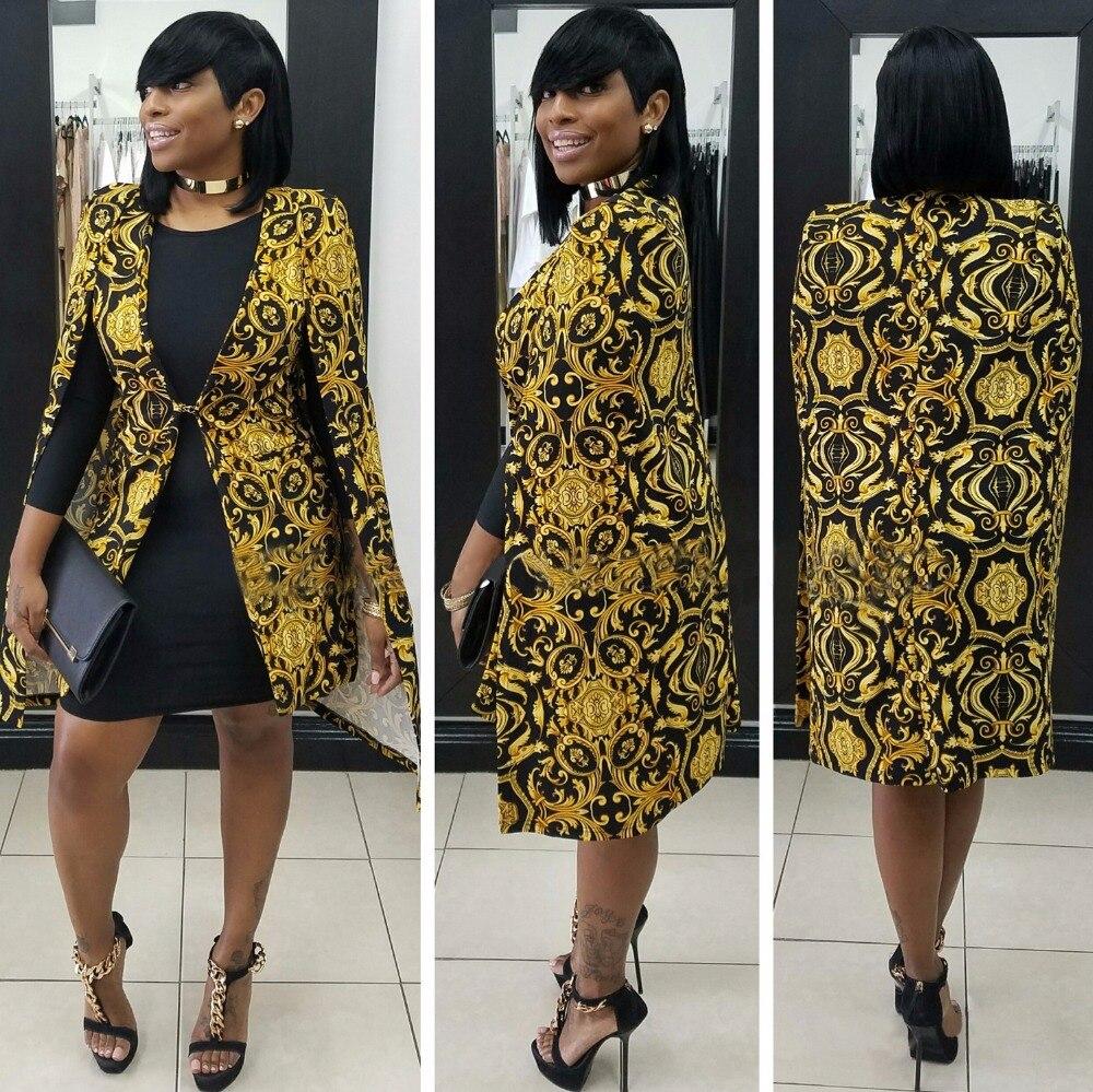 2017 Mode Frauen Breaker Jacke Dashiki Strickjacke Mantel Britischen Vintage Gold Floral Damen Casual Grund Mäntel Rohstoffe Sind Ohne EinschräNkung VerfüGbar