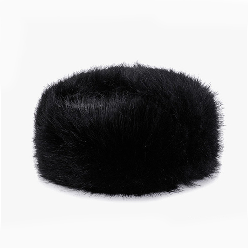 0ac8deb3fd3 Bomber Winter Hat Black for Men   Women PU Leather Fur Trapper Hats by  AKIZON