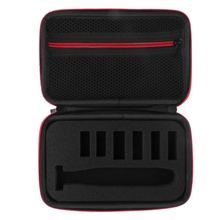 Carry Hard Case For Philips Norelco Oneblade Hydbrid Electric Trimmer Red