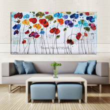 Modern abstract colorful tree flower oil painting Hand painted canvas room decorative wall art