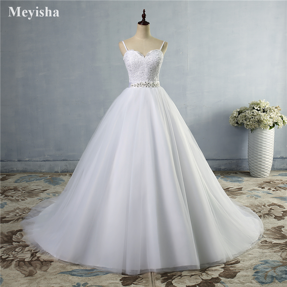 ZJ9046 Beads Crystal White Ivory Wedding Dresses 2019 for brides sweetheart size 2/4/6/8/10/12/14/16W/18W/20W/22W/24W/26W/28W