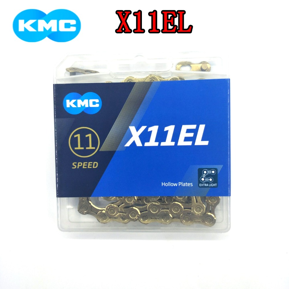 KMC X11EL bicycle chain 116 118L gold and silver 11 22 33 speed bicycle chain with