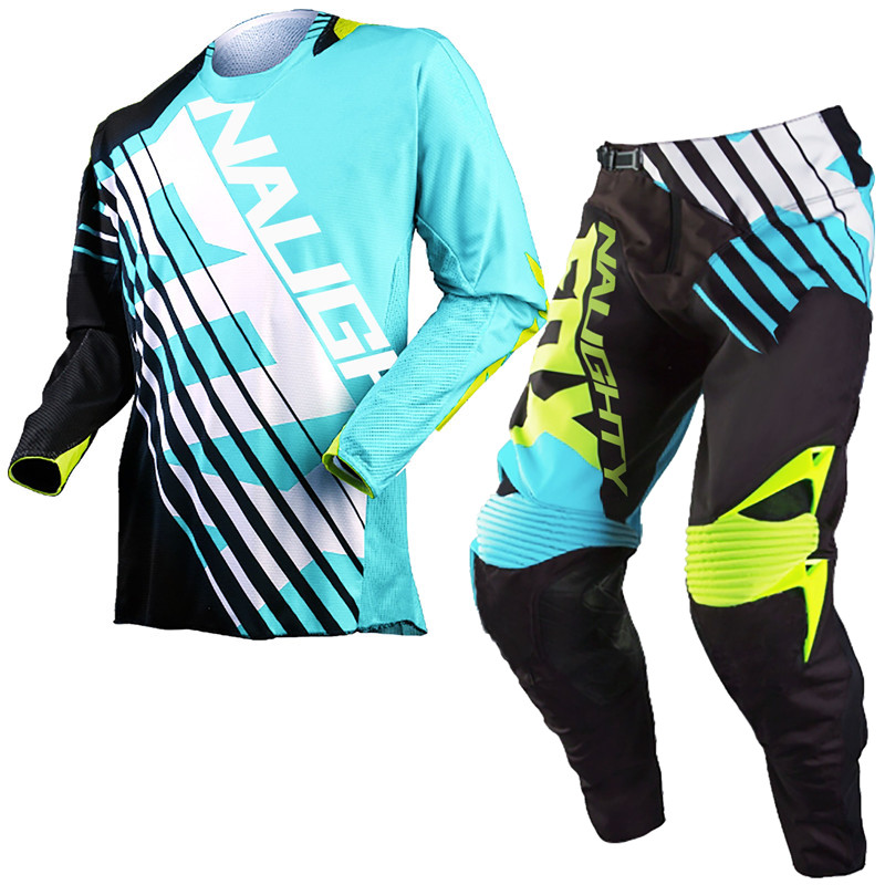 Retro Classic 360 Motocross Racing Suit SAVANT Jersey+Pants MX DH MTB Off-road Riding Combos Moto Gear Black/Blue