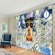 Pictures of dollar COINS Curtains 3D Photo Printing Blackout For Window Living Room Bedding Room Hote Office Sofa Decoration