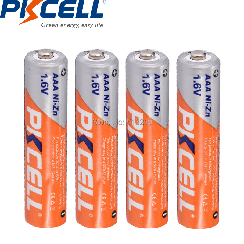 Image 3 - 8PCS PKCELL AAA 900mWh battery 1.6V NIZN Rechargeable batteries aaa ni zn recharge with 2PC AAA/AA battery case /BOX for toysrechargeable batterybattery abattery 3a - AliExpress