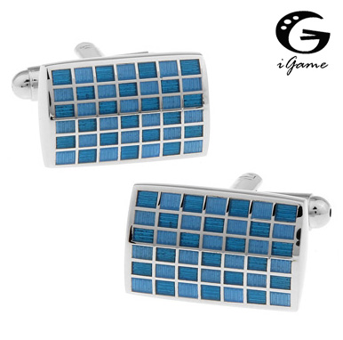 IGame Men Enamel Cufflinks Quality Brass Material Blue Colour Fashion Design Cuff Links Free Shipping