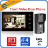 7 Inch TFT LCD Monitor Touch Key Video Doorphone Peephole Video Door Phone Bell Eye Camera