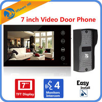 7 Inch TFT LCD Monitor Touch Key Video Doorphone Peephole Video Door Phone Bell Eye Camera