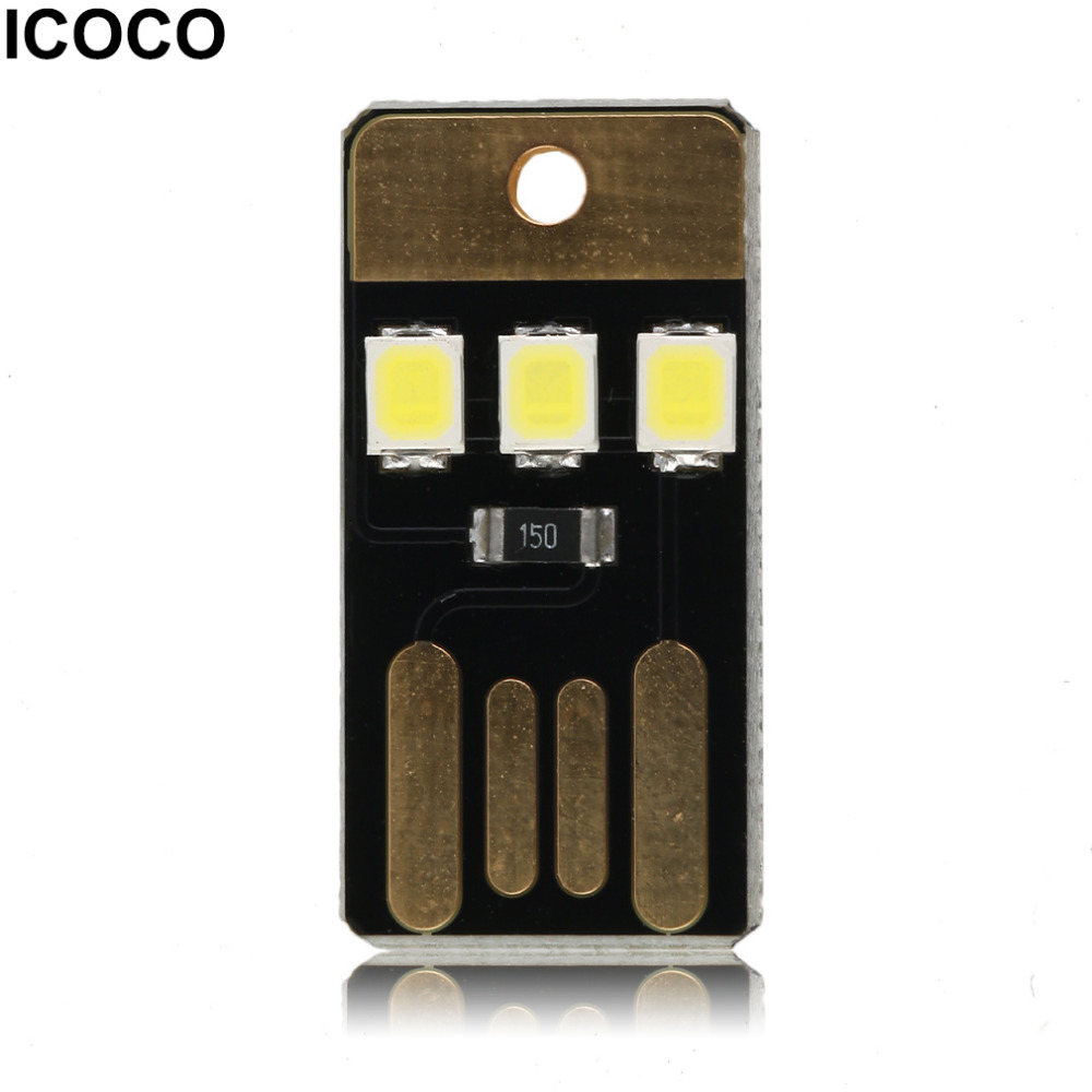 Professional Lighting Icoco Mini Usb Power Led Light Ultra Low Power 2835 Chips Pocket Card Lamp Portable Night Camp Drop Shipping