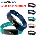 ALANGDUO Smart Wristband ID115 Fitness Tracker Step Counter Fitness Wristbands Waterproof Bluetooth Smart Bracelet Sleep Tracker