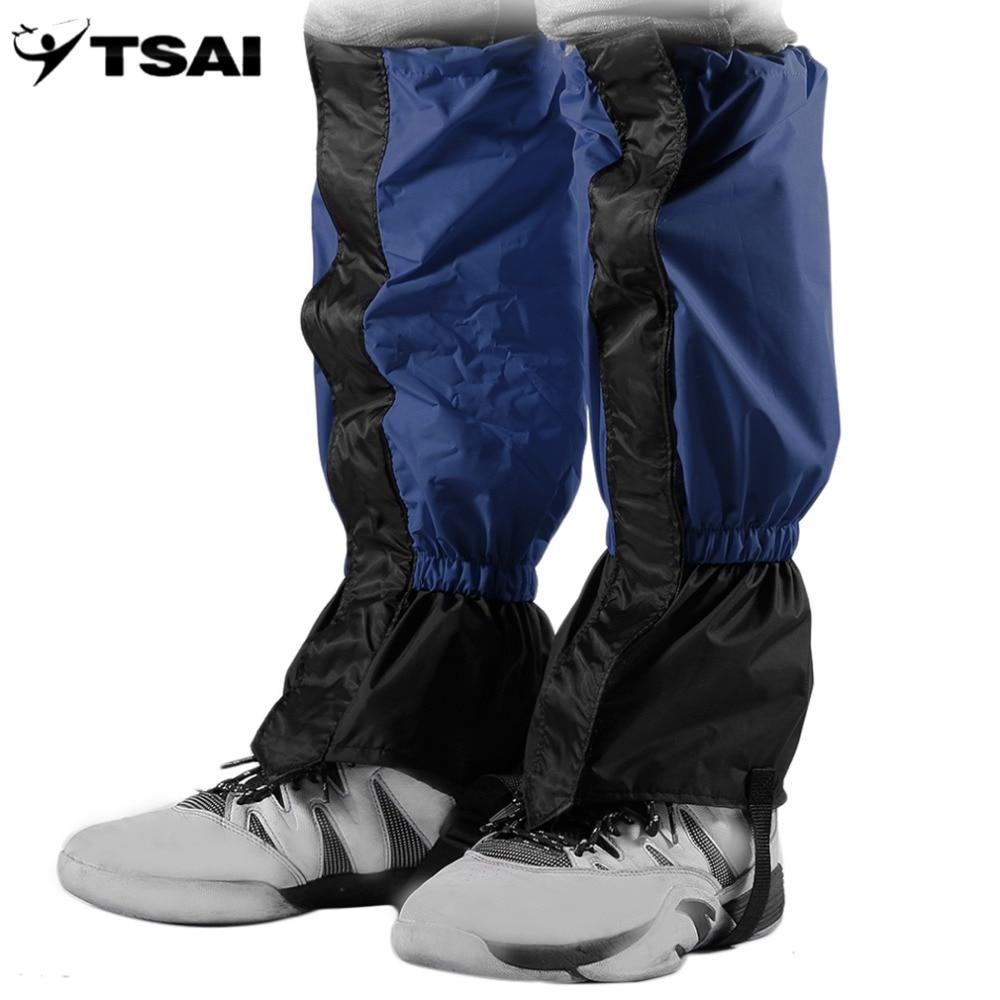 TSAI 1 Paia di Impermeabile Antivento Outdoor Trekking Passeggiate Arrampicata Caccia Neve Leggings Ghette Kit Da Viaggio