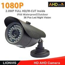 Ahd AHD 720 P 1080 P CCTV Безопасности Камера 2.0MP camera36 Светодиодов Ночного Видения Открытый Камеры Наблюдения