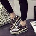 Британский стиль женской обуви бренда обувь повседневная обувь удобные плоские туфли размер 35-39 бесплатная доставка