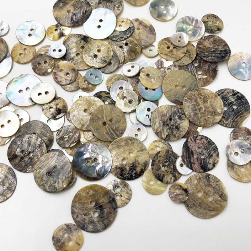100X Mixed Wooden Buttons Vintage Flowers Wood Buttons 20mm Diameter 2 hole GS