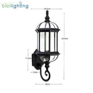 Image 3 - Luz de pared al aire libre, lámpara de pared del porche de la puerta delantera impermeable, aplique del hogar Decoración interior iluminación lámpara patio jardín