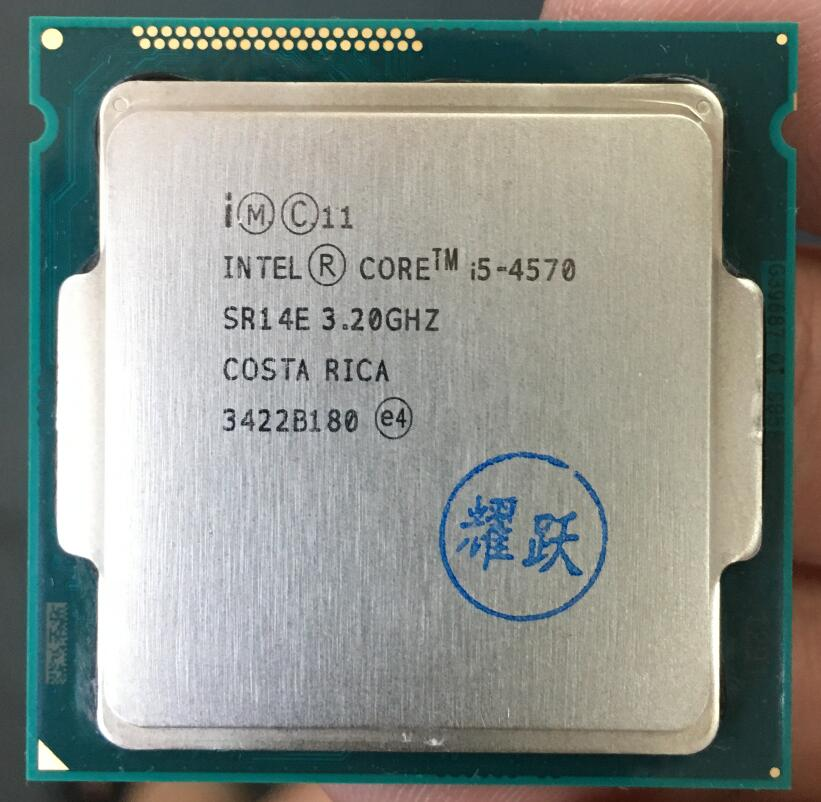 Processeur Intel Core i5-4570 i5 4570 Quad-Core LGA1150 processeur de bureau 100% fonctionnant correctement processeur d'ordinateur de bureau