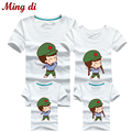 Ming Di Fashion Family Matching Outfits T-shirt 8 Colors Clothes For Matching Family Clothes Mother Father Daughter Son Top Tees