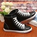 2016 Nueva Mujer de Cuero Martin Botas de Corea del Par de Zapatos Casuales Mujeres de Los Planos de la Mujer Zapatos de Marca Transpirable amantes JFN-6506-1