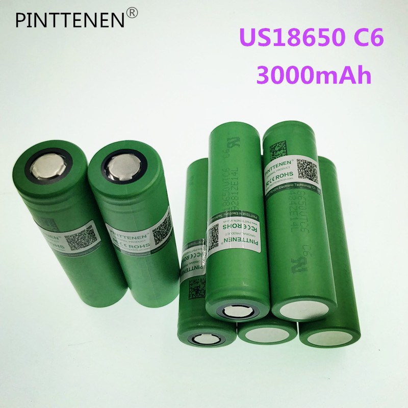 New 10PCS VTC6 3.7V 3000mAh rechargeable Li-ion battery 18650 for Sony US18650VTC6 30A Electronic cigarette toys tools flashligh
