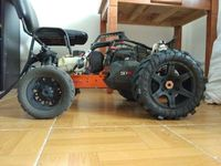 MADMAX Monster Widened Rear Wheel Tires BIG Tires on Rims FOR 1/5 HPI KM RV Baja 5B 220X107MM