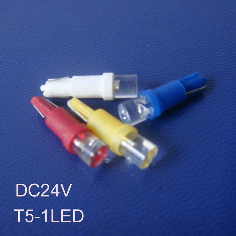 High quality T5 24V led dashboard warning indicator,auto T5 led indicator lights,24V led T5 Pilot lamps free shipping 100pcs/lot