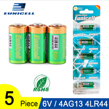 5PCS 1 Card 6V 4AG13 Alkaline Duty Battery Primary and Dry Batteries 4LR44 A544V 4034PX PX28A L1325 544 4A76 for Toys Calculator