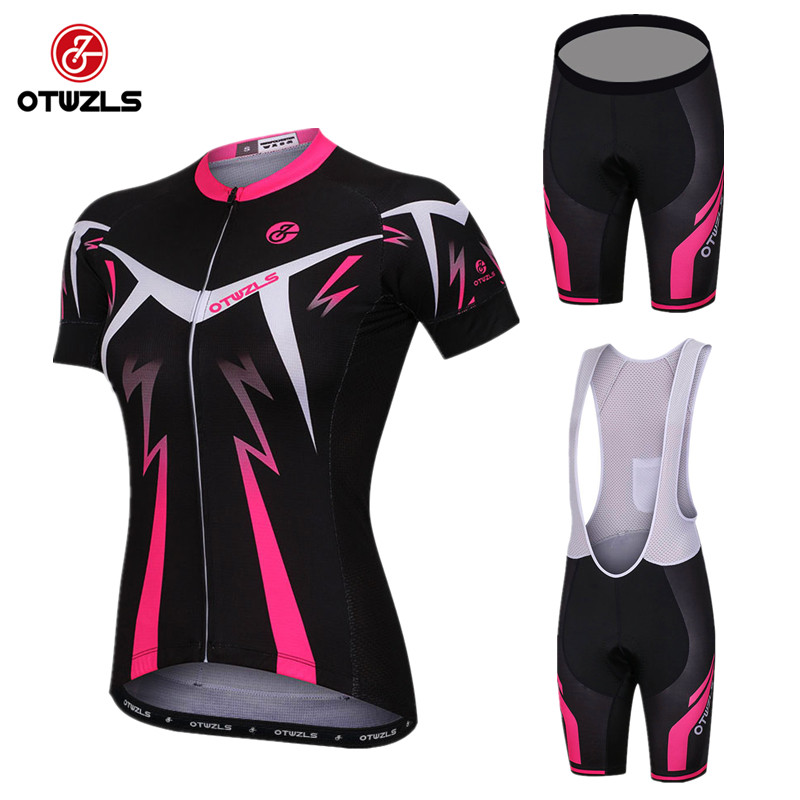 OTWZLS 2018 Pro Team Short Sleeve Women Cycling Jersey Set Bike Shorts SET MTB Ropa Ciclismo Riding Wear Bicycle Clothes 2016 women cycling jersey shorts green cats mtb bike jersey sets pro clothing girl top short sleeve bike wear bicycle shirts