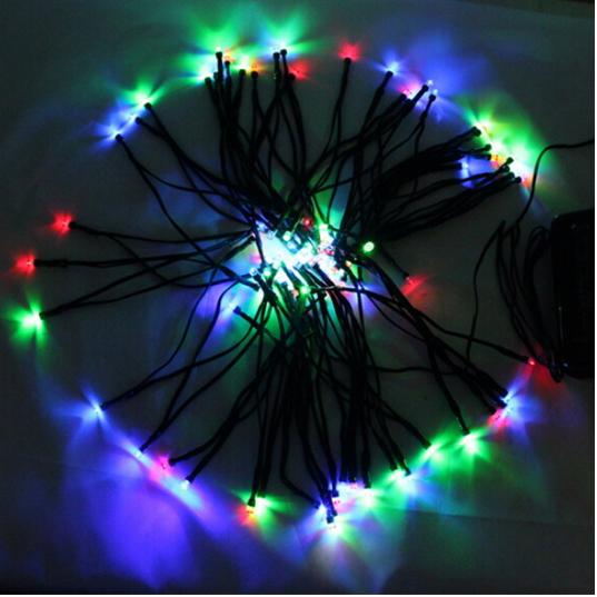 10m solar strip light panel power colorful landscape lighting 100 leds outdoor lights for holiday christmas party wedding decor in solar lamps from lights