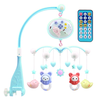 Rotate Newborn Educational Kid Baby Mobile Remote Control Bell Music Box Toy With Projector Infant Crib Rattle Bed Cute