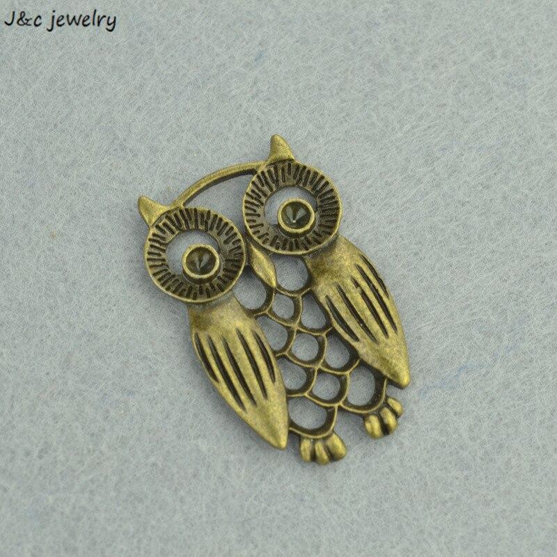 7pcs Metal Charms Antique Bronze owl Charms Pendant Jewelry Making Bracelet Necklace DIY 33*21mm 3244B