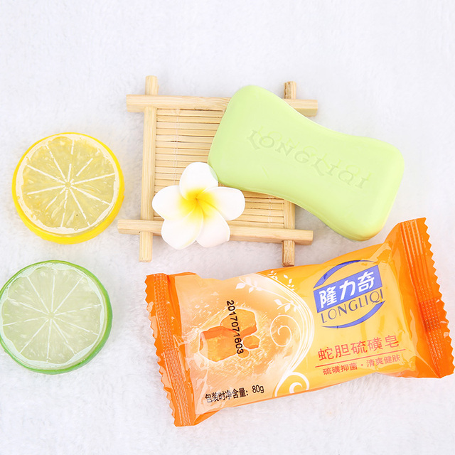 Natural Sulphur Soap with Snake Bile Extract and Plant Extracts Anti-acne Anti-mite Oil Control Deep Clean Antibacterial Sulfur 5
