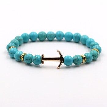 Bracelet Ancre Perle