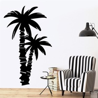 Wall Decal Palm Coconut Tree Branch Nature Vinyl Sticker